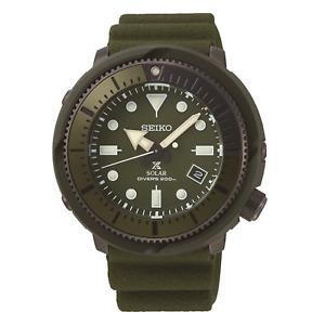 Seiko Mens Prospex Street Series Solar Green Strap Watch SNE535P1 BNIB RRP £370.