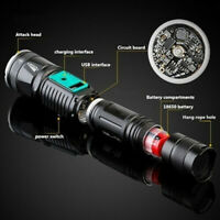 400000LM Led Flashlight Mulfuntion Flashlight XM-L L2 LED Torch USB Charging MC