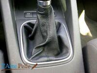 cuffia cambio VW golf 5 in pelle e cuciture nere