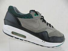 NIKE Air Max 1 Grey/Black/Green Sz 10 Men Running Shoes
