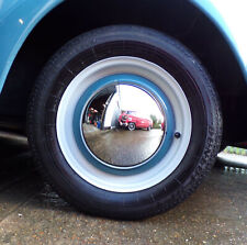 VW Beetle 68 On T2 Bay T25 T3 71–92 304 Stainless Steel Baby Moon Hubcap x4 Set