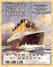 RMS Titanic Advertisement 1912 Reproduction Photo FREE SHIPPING!