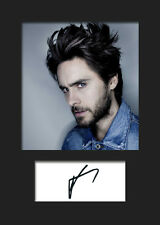 JARED LETO #5 A5 Signed Mounted Photo Print - FREE DELIVERY