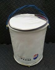 Be Sociable VINTAGE Pepsi Can Cooler Bag  Round Bin Carry Handle Unique AS IS