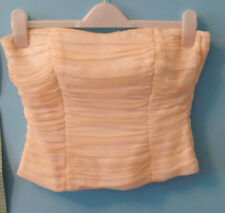 BNWT Monsoon Ladies Cream Silk Sleeveless Corset Boob Tube Top UK 10 RRP £50