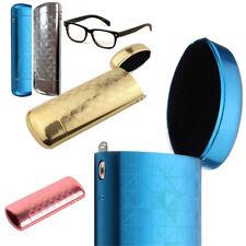 Hard Metal Aluminum Lattice Glasses Capsule Flip Eyeglasses Case Protector