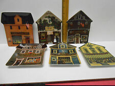 Lot of 6 Charles Wysocki Bradford Exchange Collector Plates Folktown