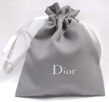 "CHRISTIAN DIOR DRAWSTRING BAG POUCH IN GRAY GREAT4COSMETIC STORAGE SMALL 4""x5"""