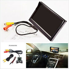 5in Car Monitor TFT LCD Digital LED Night Vision With 12LED Dynamic Track Camera