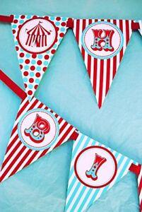 Circus Carnival Happy Birthday Banner Pennant