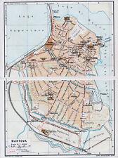 Mantova 1915 picc. cartina di città orig. + guida (14 p) Arena Darsena Ippodromo