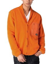 $145 NEW 55DSL Diesel Fardigone Button Front Fleece Jacket in Orange Size XL