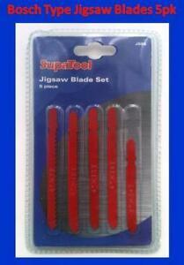 SupaTool JIgsaw Blade Set 5pc Bosch Type Multi Purpose JSB5