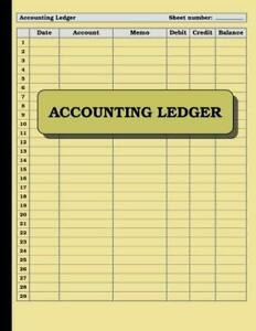 Accounting Ledger: 120 pages: Size = 8.5 x 11 inches (double-sided), perfect