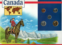 Coins of the World Canada $1, 25,10,5,1 1993 Brilliant UNC