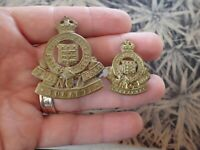 Royal Army Ordnance Corps  Motto Sua Tonanti Tela Cap Badge & Shoulder  RAOC (V)