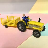 BLUE BOX HONG KONG FORDSON POWER MAJOR TRACTOR AND TRAILER INTACT 1/43 PLASTIC
