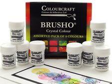 Brusho Crystal Colour Set- 8 X 15g Pots - Autumnal Colours