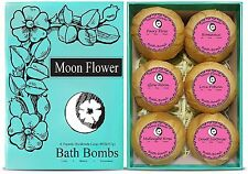 Moon Flower Bath Bombs Holiday Gift Set, 6 Handmade Spa Large and Lush Bath Bomb