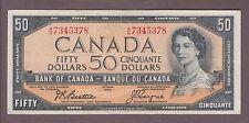 1954 $50 Dollars Beattie Coyne - Prefix A/H - Bank of Canada - E527