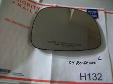 02-07 BUICK RENDEZVOUS LEFT DRIVER SIDE MIRROR GLASS ONLY OEM #H132+