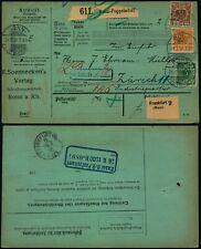 M547 Germany shipment bulletin Switzerland Bonn Zurich 1900 perfin FSV