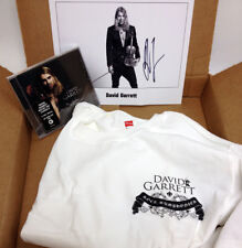NEW David Garrett Deluxe Fan Pack: MEDIUM  T-shirt, Rock Symphonies CD, Autograp