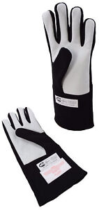 MINI STOCK CAR RACING SFI 3.3/5  GLOVES DOUBLE LAYER DRIVING GLOVES BLACK XL