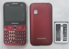 Samsung Ch@t 527 GT-S5270 Gsm Unlocked Movistar Smartphone Cellphone Red 3G