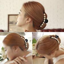 1X Pince Cheveux Griffe Épingle Barrette Perle Mariage Accessoires Femme Cadeau