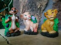 "DISNEY LION KING SQUEEZE LIGHT VINYL FIGURINES, JANEX 1994, NEW, MINT 3"" tall"