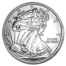 5 TROY OUNCE .999 FINE SILVER WALKING LIBERTY BU + (3) 99.9% 24K GOLD $100 BILLS