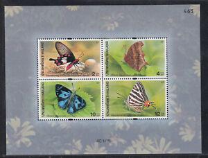 Thailand 2001 MNH  SS Butterflies