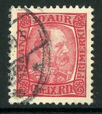Iceland 1902 Christian IX 10a Carmine Rose Perf 13 Scott # 38 VFU C679
