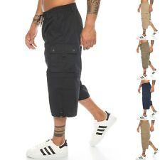 Herren Bermuda Cargo-Shorts Capri-Hose abnehmbare Beine Zipp-Off 3/4 kurze Hose
