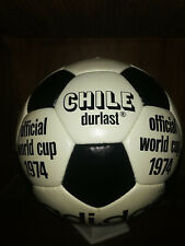 Adidas Chile Durlast Black & White | Original Leather ® Official Match Ball 1974
