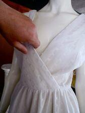 MOD DRESS WHITE SABA 60S BOMBSHELL 28w  busty winter wonderland cocktail dress