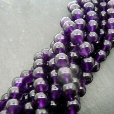 "African Amethyst 8mm Round Beads 15"" Strand Semi Precious Gemstone"