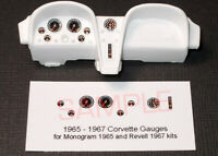 1965 - 1967 CORVETTE GAUGE FACES - 1/24-1/25 REVELL MONOGRAM COUPE & CONVERTIBLE