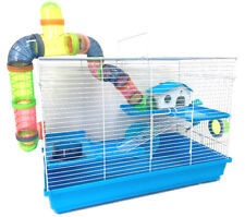 3-Tiers Large Hamsters Habitat Gerbil Home Cross Tube Cage Rodent Mouse Mice