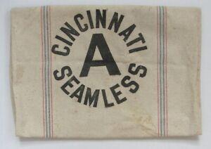 Antique Feed SEED Bag CINCINNATI A SEAMLESS Heavy Cotton Canvas Grain SACK