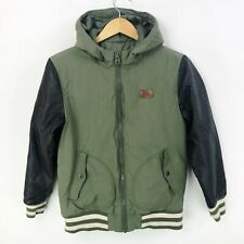 Vans Boys Large 14 16 Rutherford Jacket Coat Olive Green Black Quilted Bomber