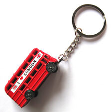 London bus keychain,British red bus keychain,double-decker bus key ring,CUTE !!!