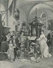 ANTIQUE MOZART AT THE ORGAN CHURCH VERSAILLES COSTUME KARL KERPER BIG ART PRINT