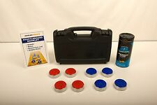 BLOWOUT! - TABLE SHUFFLEBOARD PUCK WEIGHTS + RULE BOOKLET + HARD CASE + WAX