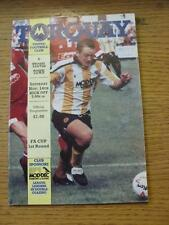 14/11/1992 Torquay United v Yeovil Town [FA Cup] (Crossword Filled In). Item In