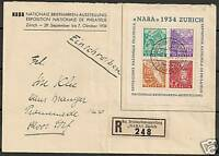 Switzerland 1934 Zst Bloc 1 NABA onspecial R-cover