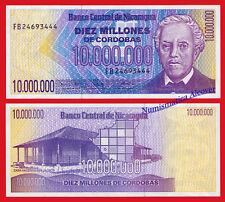 NICARAGUA 10 Million 10000000 Cordobas 1990 Pick 166 SC / UNC