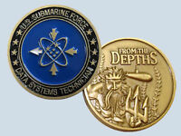 submarine rate data systems technician ds logo navy challenge coin