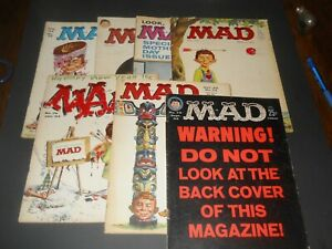 MAD MAGAZINES! LOT OF 7! 1962-63! PRETTY NICE LOT!